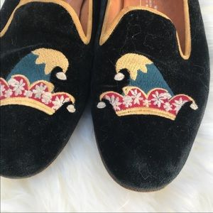 Stubbs & Wootton Shoes - Stubbs & Wootton Embroidered Jester Hat Loafers 7